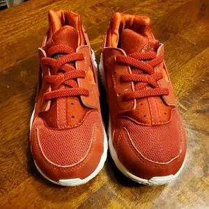 Huarache red boys girls sneakers 10c toddler nike